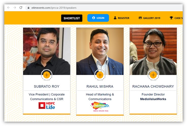 The India PR & Corporate Communications Conference 2019 Speakers